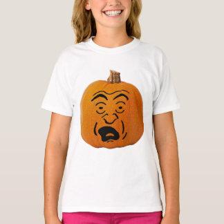 Camiseta A lanterna do o de Jack Scared a cara, abóbora do