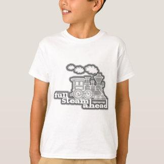 Camiseta A laranja completa do trem do louco do vapor