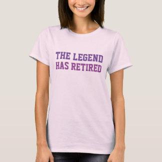 Camiseta A legenda aposentou-se roxos