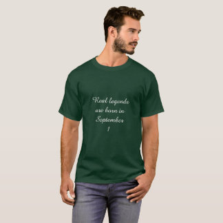 Camiseta A legenda é nascida o 1º de setembro