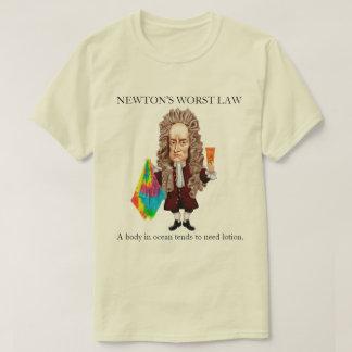 Camiseta A lei a mais má de Newton