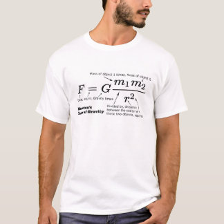 Camiseta A lei de Newton da gravitação universal
