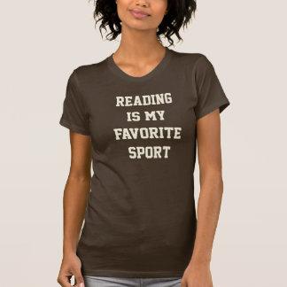 Camiseta A leitura é meu T favorito do esporte