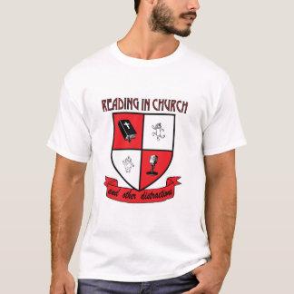 Camiseta A leitura oficial no t-shirt da igreja