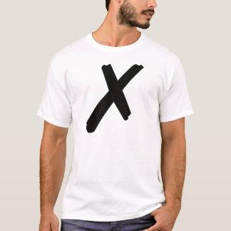 "Camiseta A letra americana inglesa ""X """