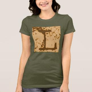 """Camiseta A letra """"L"""" t-shirt de Jessie do monograma"""