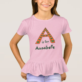 Camiseta A letra personalizada adorável meninas nomeia