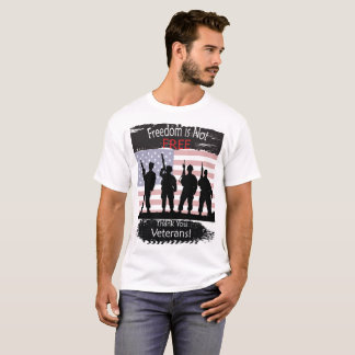 Camiseta A liberdade não está livre, obrigado veteranos