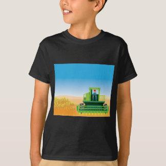 Camiseta A liga sega e colhe o vetor das colheitas