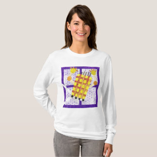 Camiseta A ligação em ponte das mulheres de patinagem do