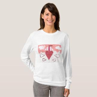 Camiseta A ligação em ponte das mulheres do barco de