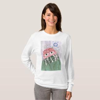 Camiseta A ligação em ponte das mulheres do pente das
