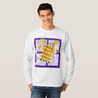 Camiseta A ligação em ponte dos homens de patinagem do