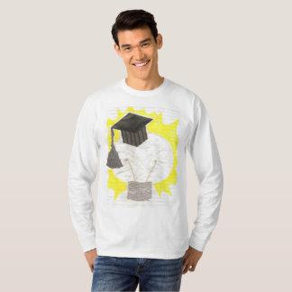 Camiseta A ligação em ponte dos homens do bulbo do formando