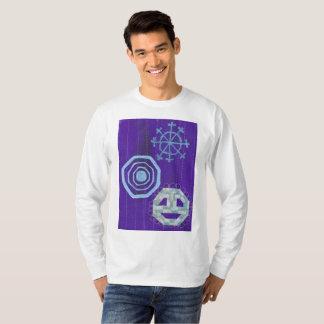 Camiseta A ligação em ponte dos homens especiais do floco