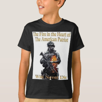 Camiseta A linha americana da roupa do patriota