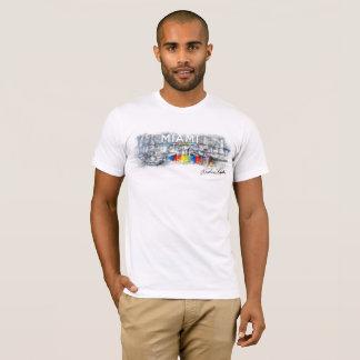 Camiseta A linha de Miami, homens do t-shirt de Rockne
