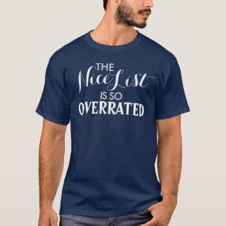 Camiseta A lista agradável é assim que humor avaliado em