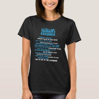Camiseta A lista das desculpas do nadador não podia