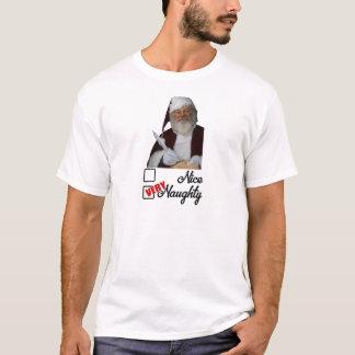 Camiseta A lista impertinente do papai noel engraçado