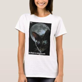 Camiseta a lua é gato do lol da mina
