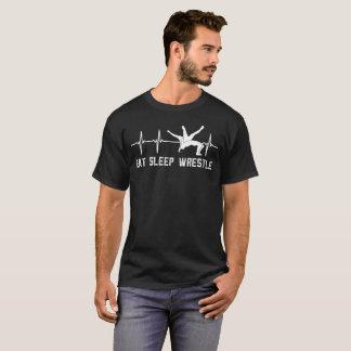 Camiseta A luta come a luva longa da pulsação do coração do