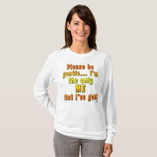 """Camiseta A luva longa básica das mulheres """"seja por favor"""""""