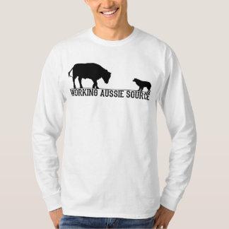 Camiseta A luva longa básica dos homens
