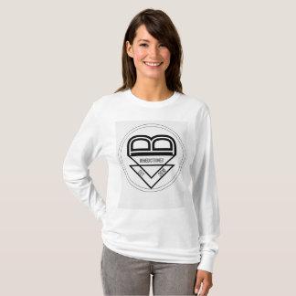 Camiseta A luva longa das mulheres com revisão