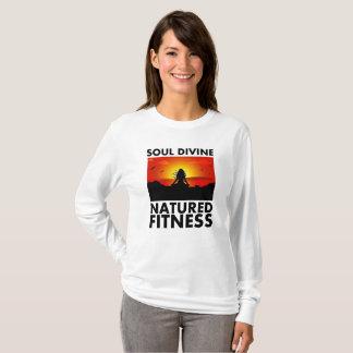 Camiseta A luva longa das mulheres divinas da alma