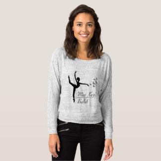 Camiseta A luva longa das mulheres do programa do balé de
