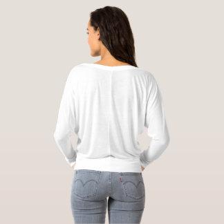 Camiseta A luva longa das mulheres fora do ombro