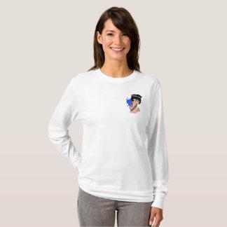 Camiseta A luva longa das mulheres HERÓICOS de Mage do Aqua