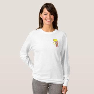 Camiseta A luva longa das mulheres HERÓICOS do cavaleiro do
