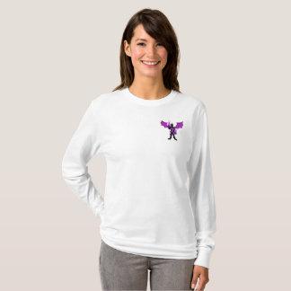 Camiseta A luva longa das mulheres HERÓICOS do dragão do