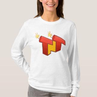 Camiseta A luva longa das mulheres (LOGOTIPO)