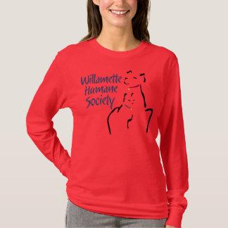 Camiseta A luva longa das mulheres (nenhum decalque