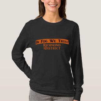 Camiseta A luva longa das mulheres - preto