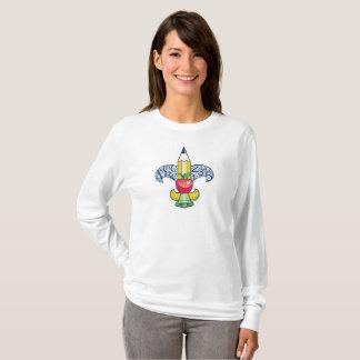 Camiseta A luva longa do Fleur-De-Ensino