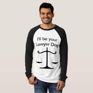 Camiseta A luva longa dos homens do cão do advogado