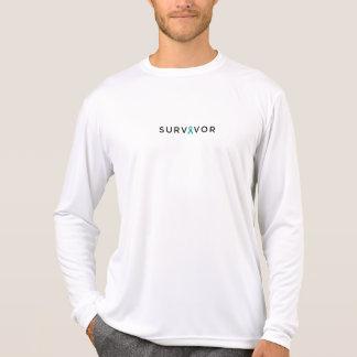 Camiseta A luva longa dos homens do SOBREVIVENTE