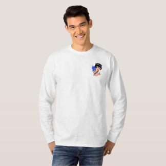 Camiseta A luva longa dos homens HERÓICOS de Mage do Aqua