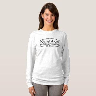 """Camiseta A luva longa T das mulheres dos """"vizinhos"""""""