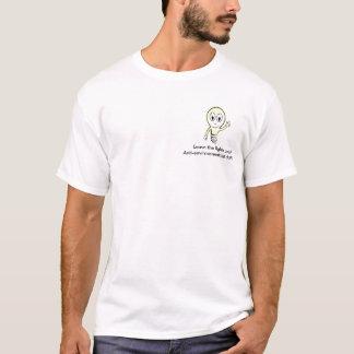 Camiseta a luz, sae das luzes sobre!!! Anti-ambiental…