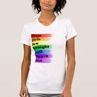 Camiseta A maioria de meninas são retas…