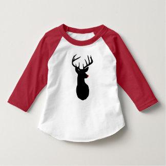 Camiseta A maioria de rena famosa de todo o Raglan da
