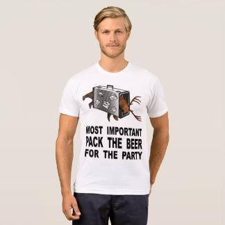 Camiseta A mais importante é embalar a cerveja para o