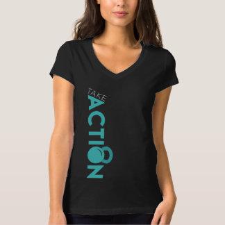 Camiseta A malhação da ação das mulheres toma o t-shirt da