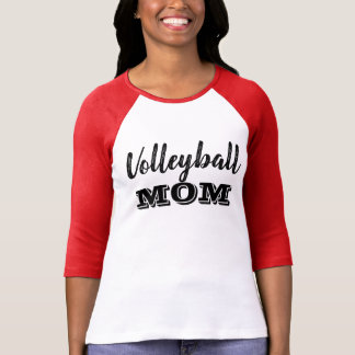Camiseta A mamã do voleibol ostenta o t-shirt