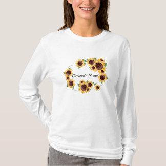 Camiseta A mamã dos ElegantSunflower-Noivos
